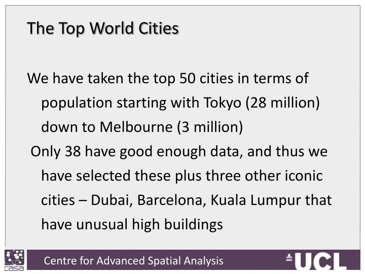 The Top World Cities