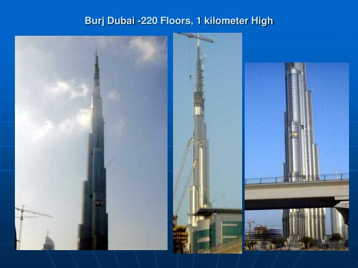 Burj Dubai -220 Floors, 1 kilometer High