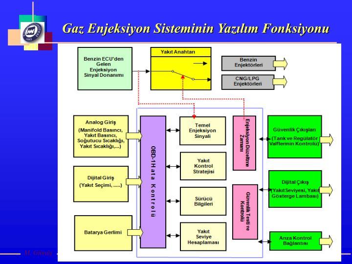 Gaz Enjeksiyon Sisteminin Yazılım Fonksiyonu
