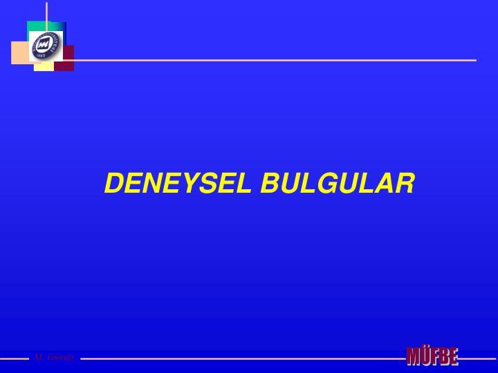 DENEYSEL BULGULAR