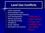 land use conflicts