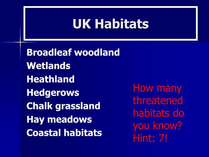 UK Habitats