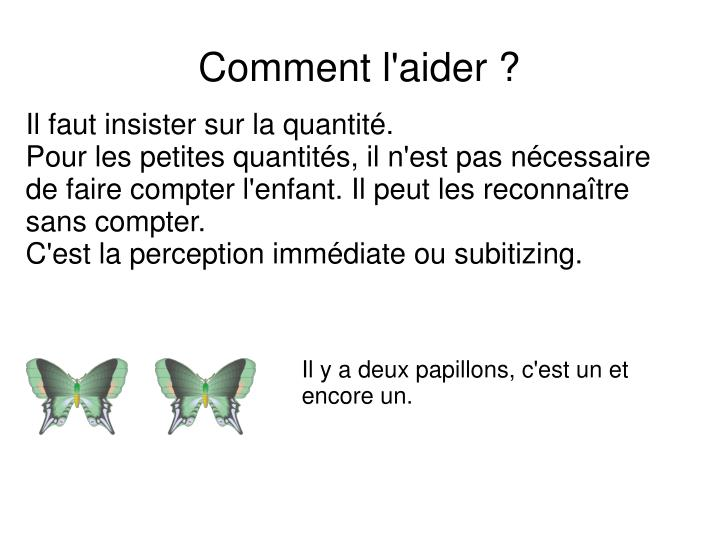 Comment l aider