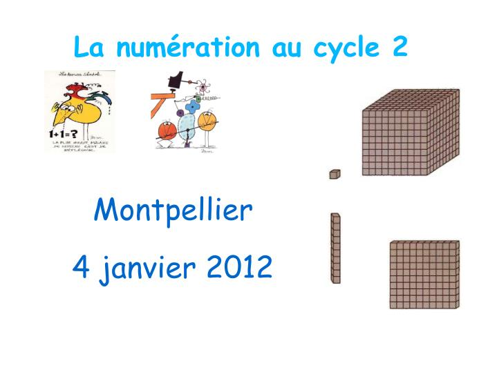 La num ration au cycle 2