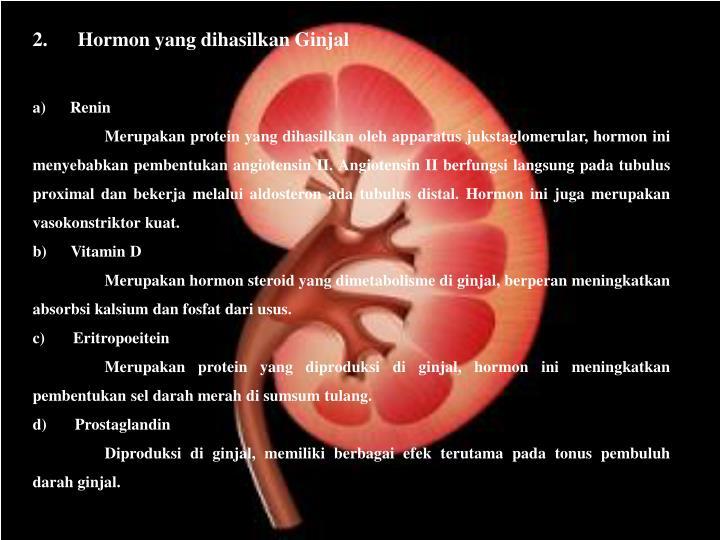 2. Hormon yang dihasilkan