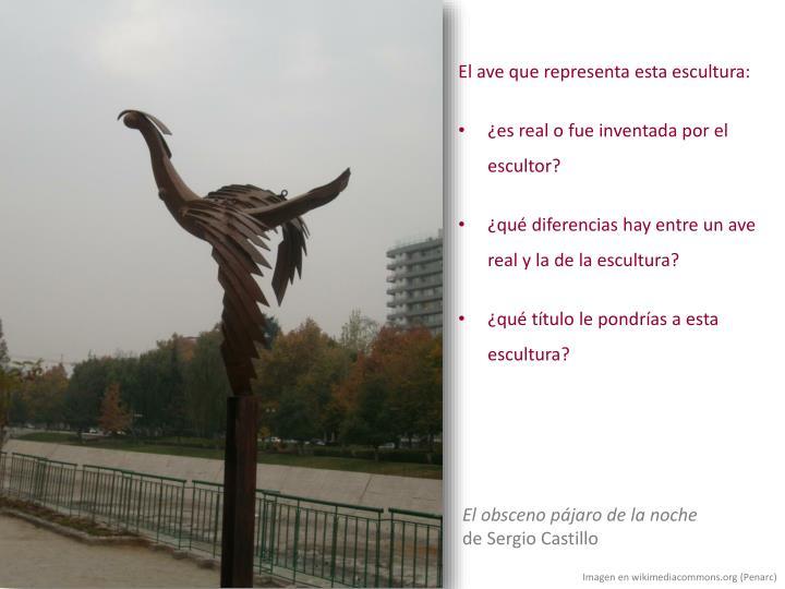 El ave que representa esta escultura: