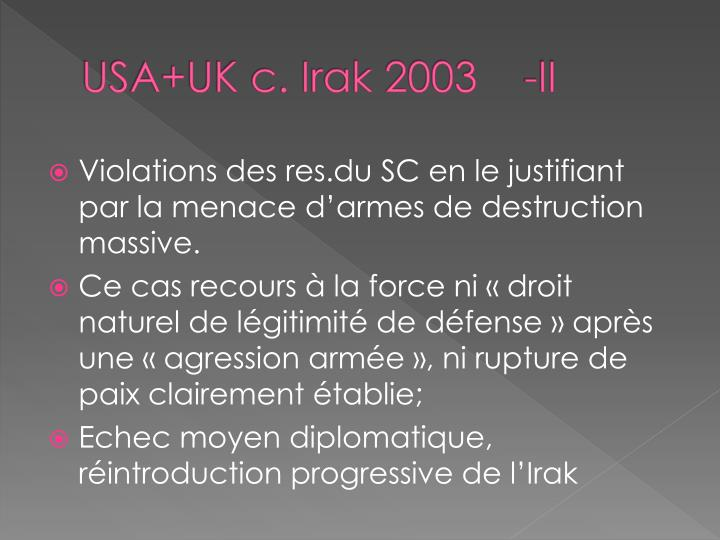 USA+UK c. Irak 2003    -II