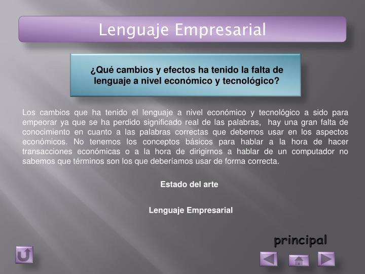 Lenguaje Empresarial