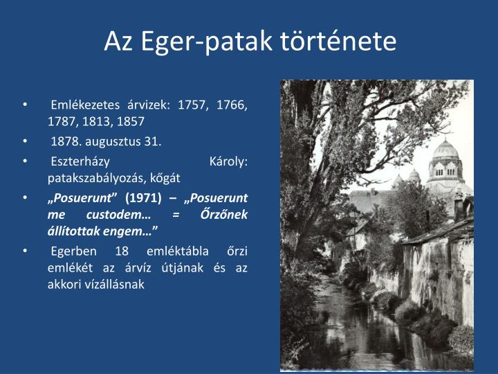 Az Eger-patak története