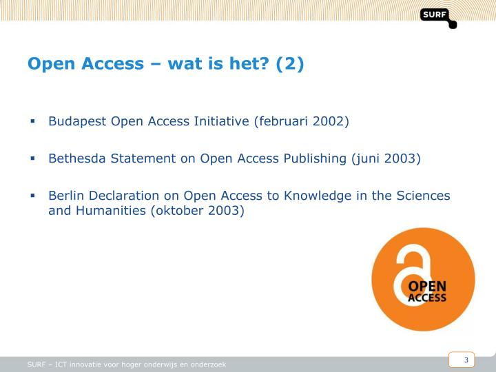 Open access wat is het 2