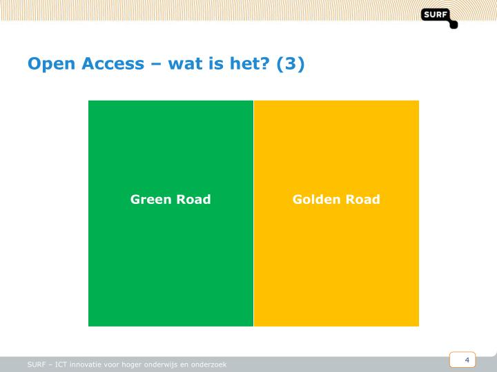 Open Access – wat is het? (3)