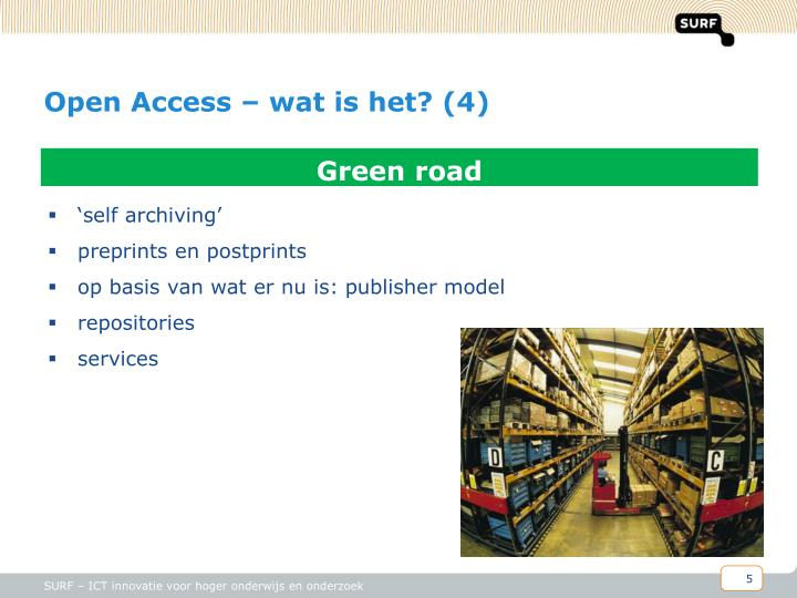 Open Access – wat is het? (4)