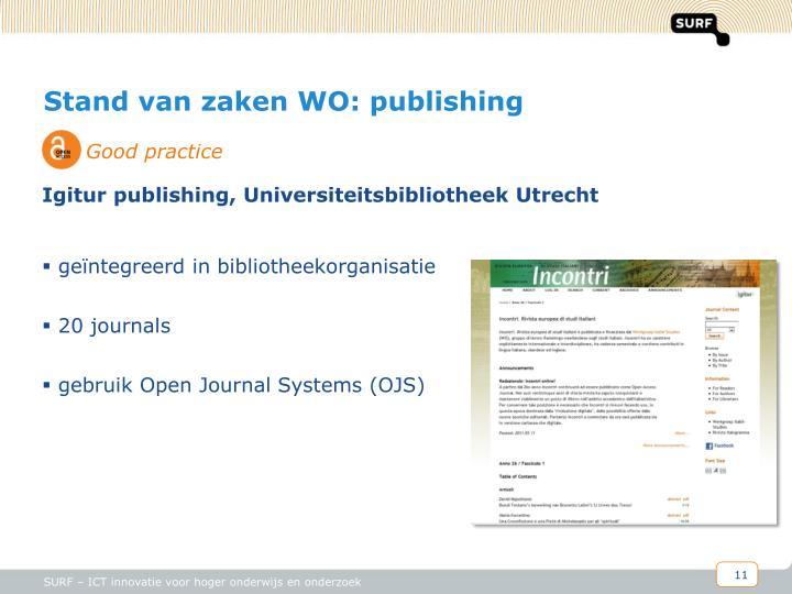 Stand van zaken WO: publishing