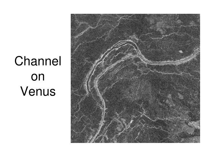 Channel on Venus