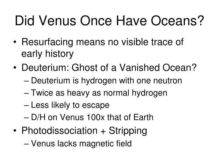 Did Venus Once Have Oceans?