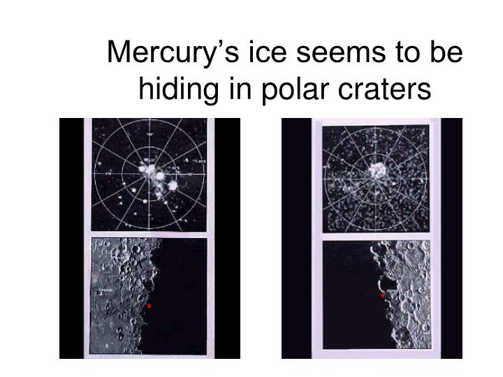 Mercury's ice seems to be hiding in polar craters