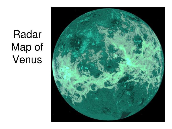 Radar Map of Venus