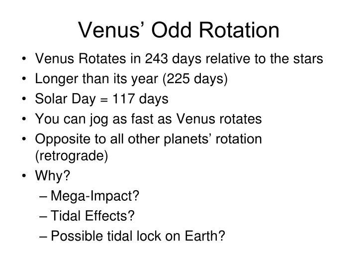 Venus' Odd Rotation