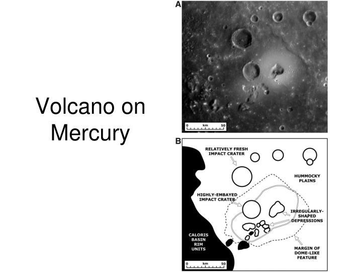 Volcano on Mercury