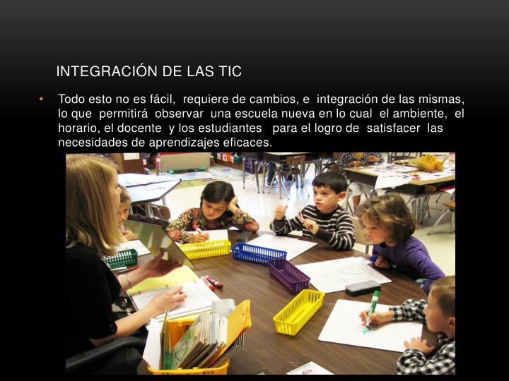 INTEGRACIÓN DE LAS TIC