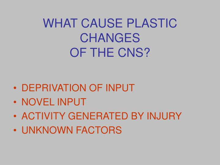 WHAT CAUSE PLASTIC CHANGES