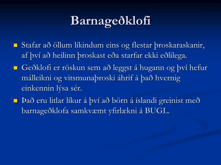 Barnageðklofi