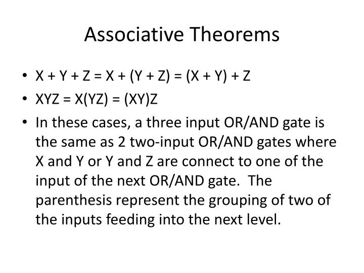 Associative Theorems