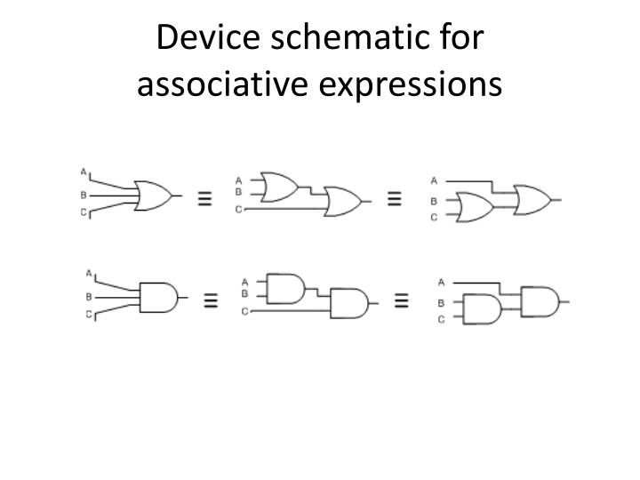 Device schematic for