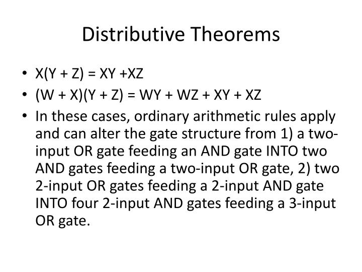 Distributive Theorems