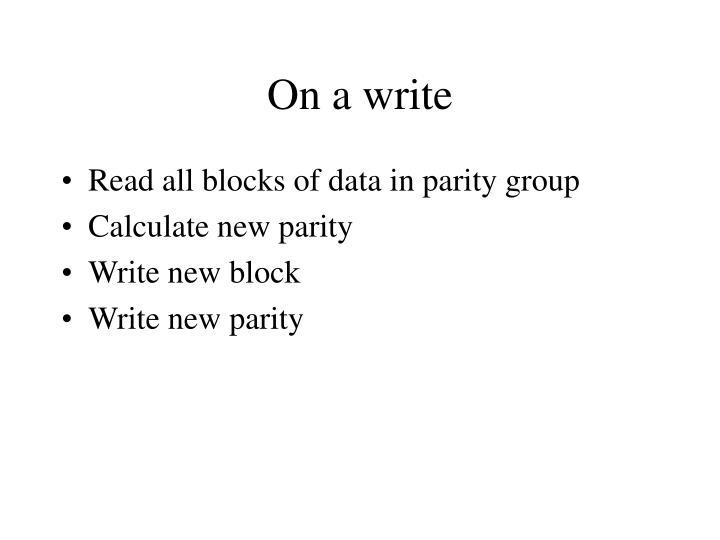 On a write