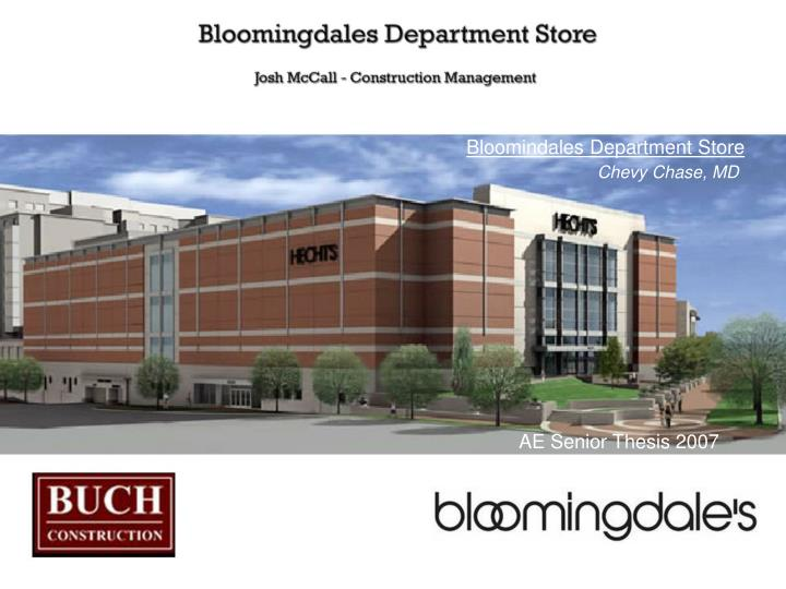 Bloomindales Department Store