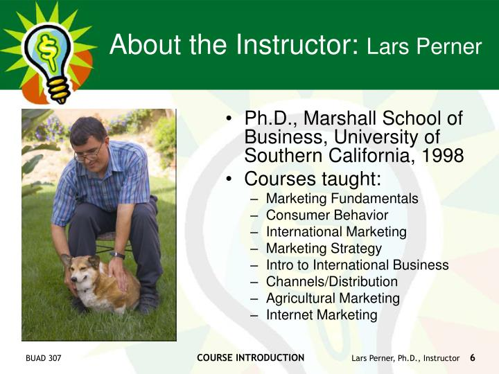 About the Instructor: