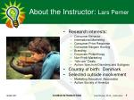 about the instructor lars perner1