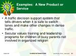 examples a new product or service