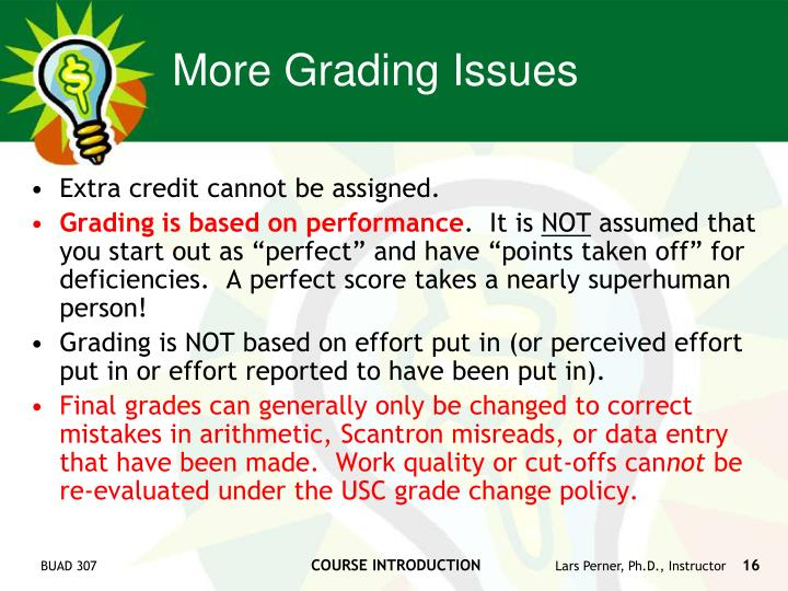 More Grading Issues