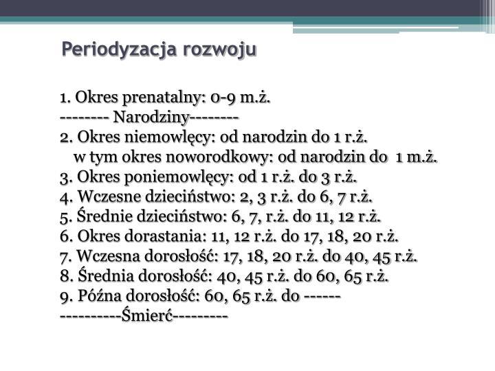 Periodyzacja rozwoju