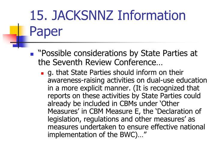 15. JACKSNNZ Information Paper
