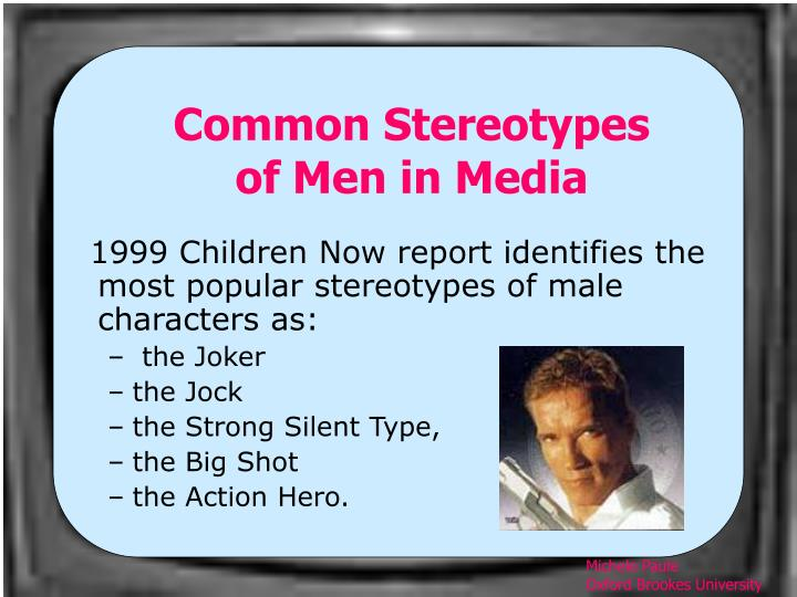 Common Stereotypes of Men in Media