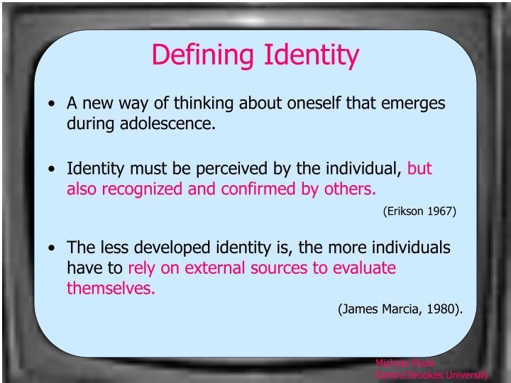 Defining Identity