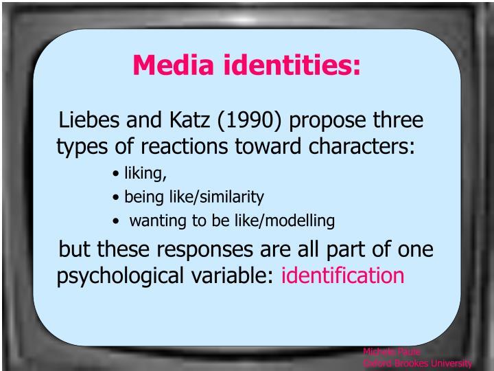 Media identities:
