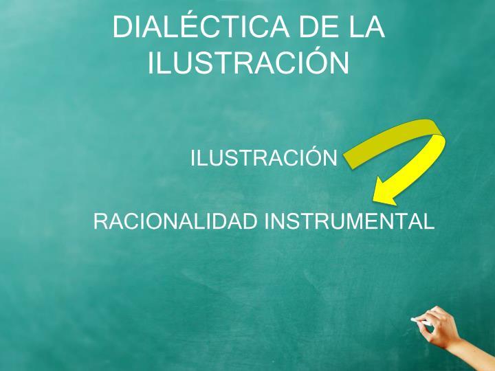 DIALÉCTICA DE LA ILUSTRACIÓN