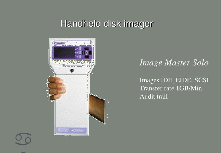 Handheld disk imager