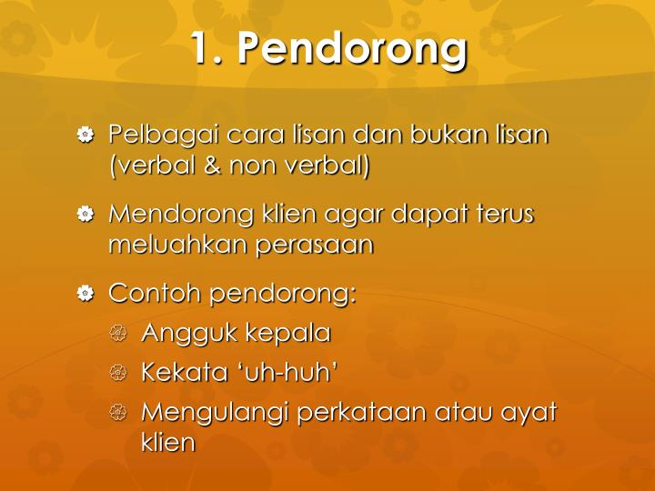 1. Pendorong
