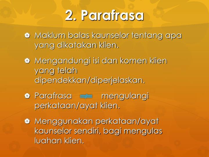 2. Parafrasa