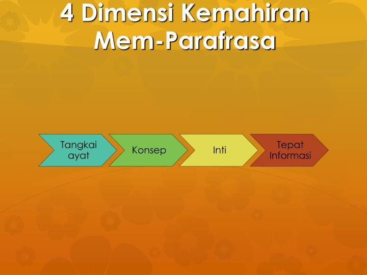 4 Dimensi Kemahiran