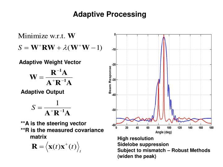 Adaptive Processing