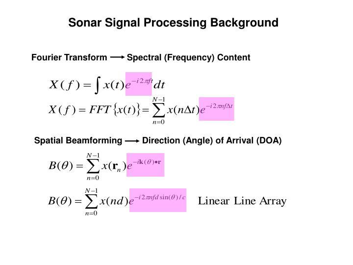 Sonar Signal Processing Background