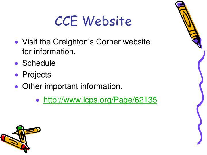 CCE Website