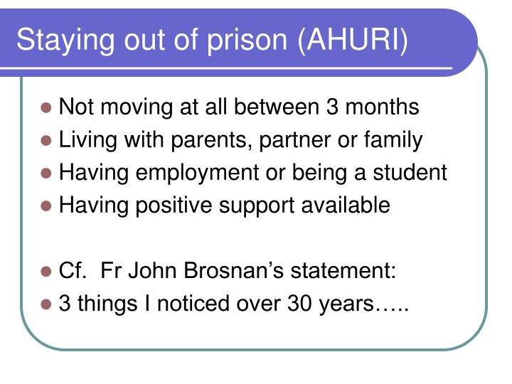 Staying out of prison (AHURI)