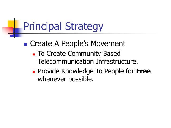 Principal Strategy